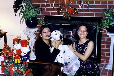 Me, Armani, and my sis Christmas 2003, Armani was 8
