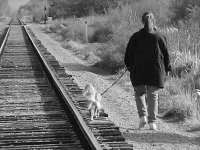 Michael and I on a walk